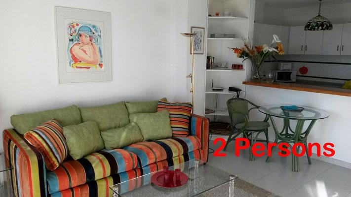 Altea (La Vella) apartment for 2 persons, beach, luxury, Cap Negret, pool, dishwasher.