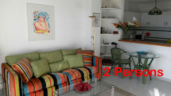 Altea (La Vella) apartment for 2 persons, beach, luxury, Cap Negret, pool, dishwasher.