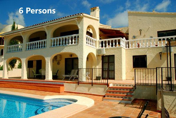 Villa for 6 Altea (La Vella) on Don Cayo golf