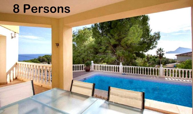 Altea (La Vella ), villa 8 persons, sea view.
