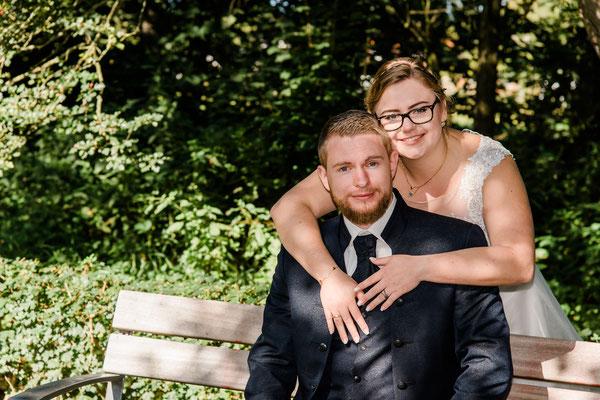 Brautpaarshooting vor dem Amt in Schafflund