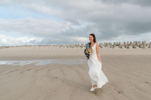Braut auf Sylt