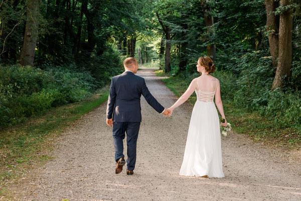 Brautpaarshooting in der Marienhölzung von Flensburg