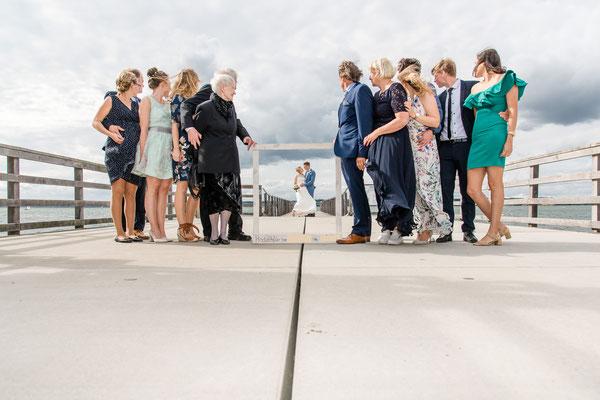 Brautpaarshooting am Strand von Glücksburg