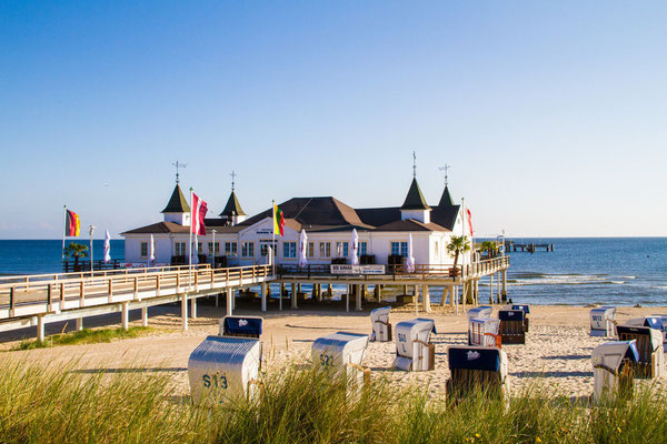 Die schöne Insel Usedom. Deutschlands älteste Seebrücke steht in Ahlbeck.  Foto: ©UTG