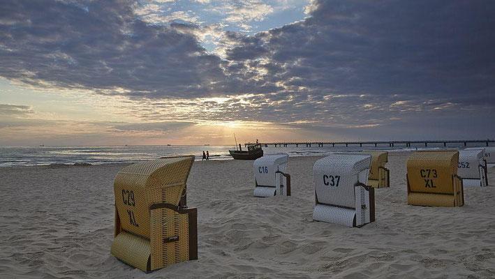 Die schöne Insel Usedom. Am Strand in Heringsdorf  Foto: ©UTG