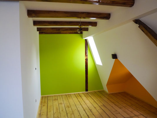 Dachbodenausbau mit Dielenverlegung