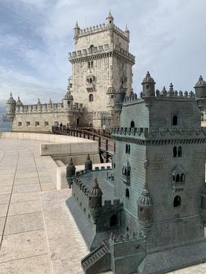der kleine und der große Torre de Belém, erbaut im 16. Jh. als Bastion
