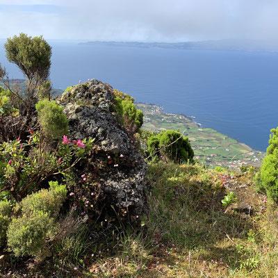 Blick von Pico auf die Insel  São Jorge