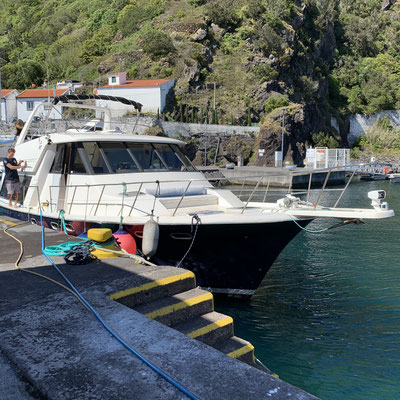 """unser Boot, die """"Blue Bay"""""""