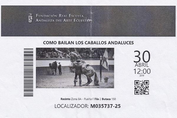 Ticket für die Show