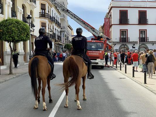 Feuerwehrübung in Ronda