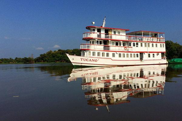 Brasilien: unser Boot auf dem Rio Negro