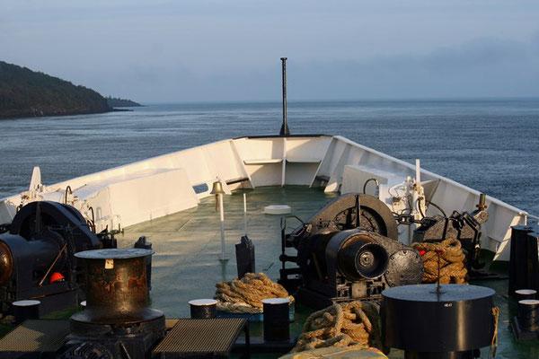 mit der Fähre über die Bay of Fundy