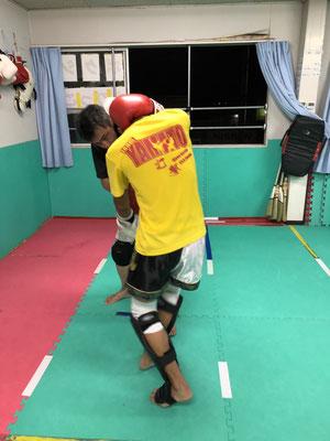首相撲の練習