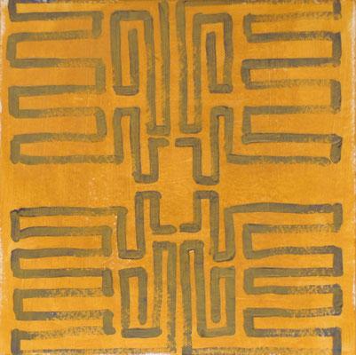 o.T. Eitempera auf Papier, 40x40cm, 2016