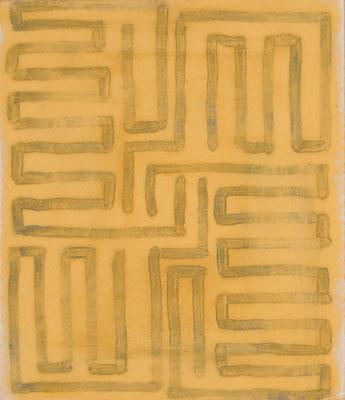 o.T. Eitempera auf Papier, 35x30cm, 2016