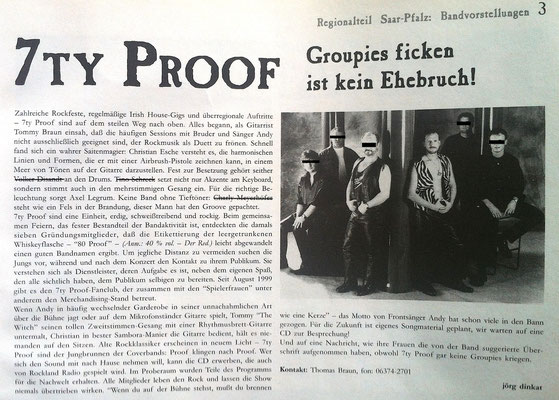 Feedback Musikmagazin 2000 - Skandal