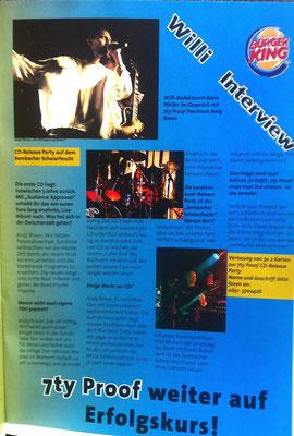 Willi Magazin 2002 - Vorbericht Release