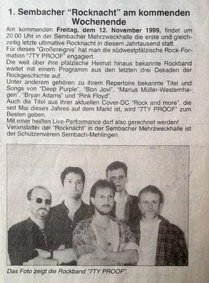 Pfalzbote 1999 - Rocknacht