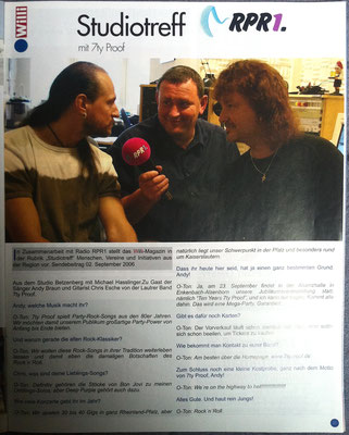 Willi Magazin 2006 - Interview RPR1