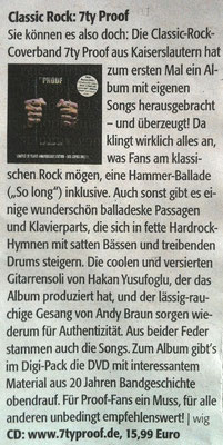 "LEO Magazin 2016 - CD Kritik ""Rock ´n` Roll will never die"""