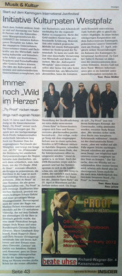 Insider 2013 - CD Single - Wild at heart Vorankündigung