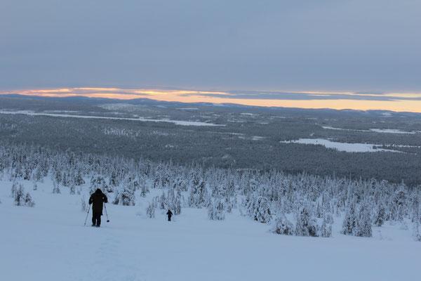 Blick über die Weite Lapplands von einem der vielen Aussichtspunkte rund um Arvidsjaur