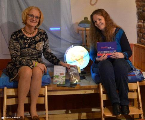 """Lesung """"Glücksorte und Lieblingsplätze"""" mit Sibyl Quinke und Marina Jenkner am 23.01.2019 (Foto: Kulturort """"Die arme Poetin"""")"""