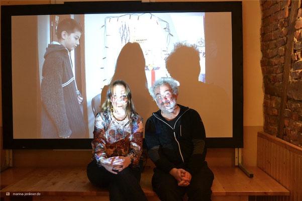 """Kurzfilm-Retrospektive von Marina Jenkner und Christoph Müller am 14. November 2015. (Foto: Kulturort """"Die arme Poetin"""")"""