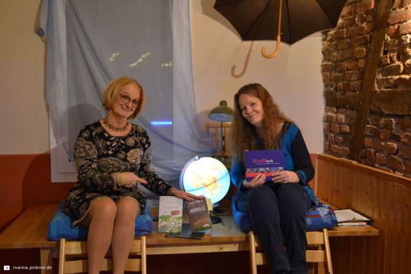 """Lesung """"Glücksorte und Lieblingsplätze"""" mit Sibyl Quinke und Marina Jenkner am 23. Januar 2019 (Foto: Kulturort """"Die arme Poetin"""")"""
