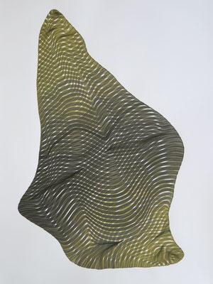 Sponge 1, drawing ink on paper,  65 x 50 cm