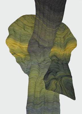 eingelullt1, drawing ink on paper,  100 x 70 cm