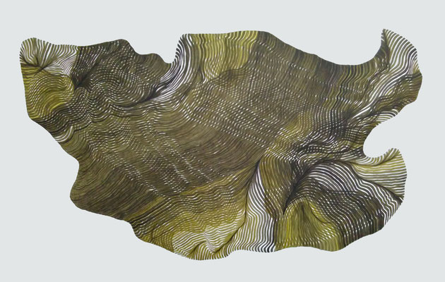 fadenscheinig, drawing ink on paper,  91 x 150 cm