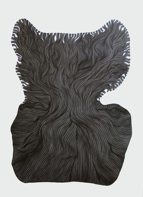 gelauscht, marker on paper,  59,4 x 42 cm