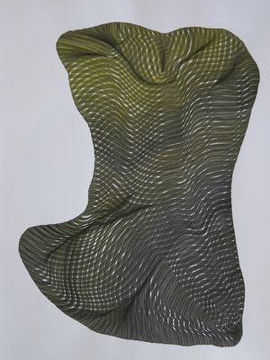 Sponge 3, drawing ink on paper,  65 x 50 cm
