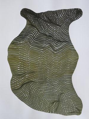 Sponge 2, drawing ink on paper,  65 x 50 cm