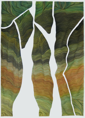 Fensterfolie, drawing ink on paper, 100 x 70 cm