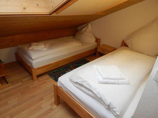 Unser zweites Schlafzimmer im Dachgeschoss