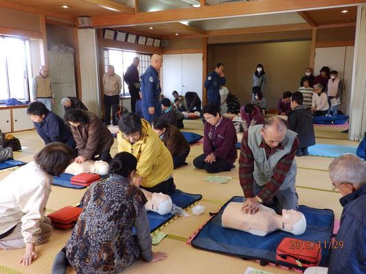 防災AED訓練1
