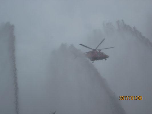 出初式、火災救助訓練3