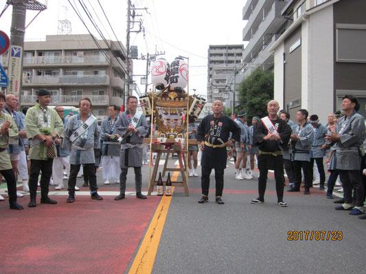 浦和パレード神輿渡御、頭衆、粋です!