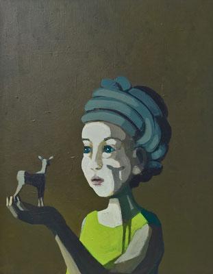 Ochsenreither Sven: shadow, Acryl auf Leinwand 50 cm x 40 cm, 2017