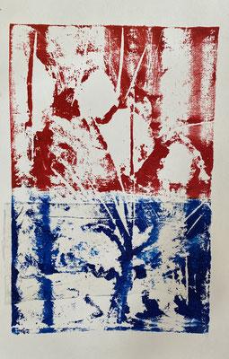 Végétal 29 24*32 cm 2021 gravure sur carton chine-collé
