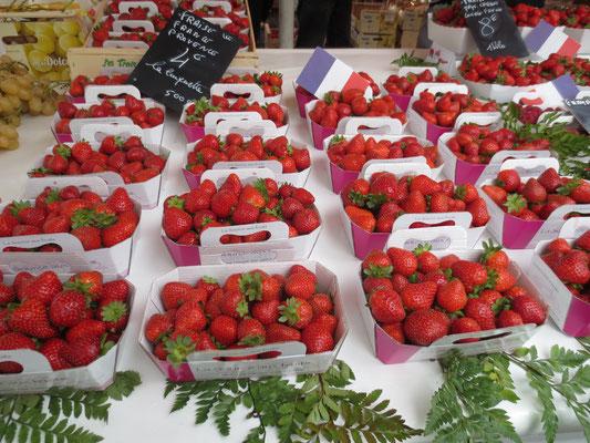 Les fraises du marché