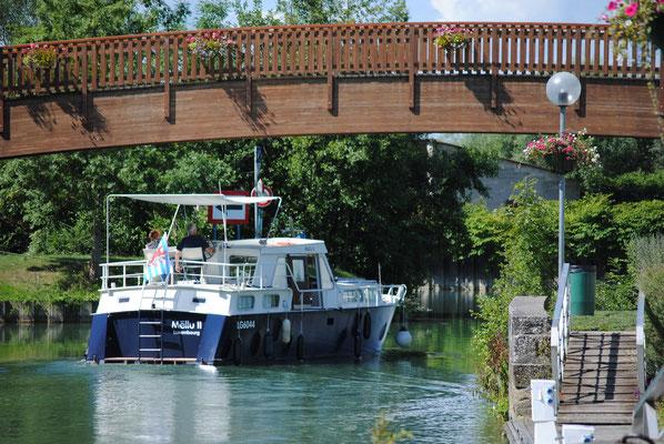 Le port de plaisance de Stenay est un lieu de sérénité