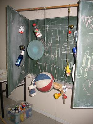 Vorbereitung einer 10.Klasse für eine Plastik als Gemeinschaftsarbeit, 2011