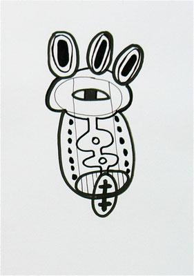 TATTOO KRAFTZEICHEN, 2007, Entwurf, marker auf Papier
