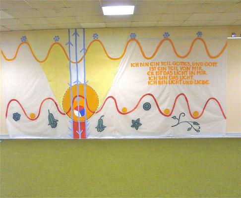 Wandgestaltung, 2009, Acryl auf Folie