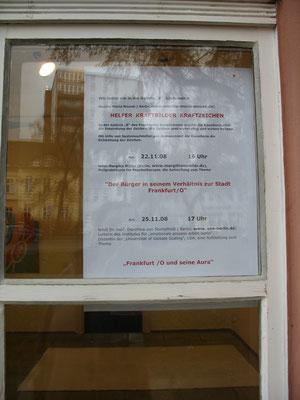 Ankündigung der Systemaufstellungen in der Galerie B, 2009, F/O